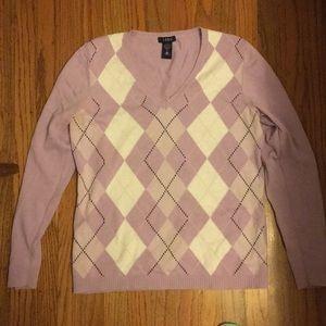 Izod lavender argyle Sweater Medium